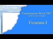 Embedded thumbnail for Fampianarana Word 2007 1/10