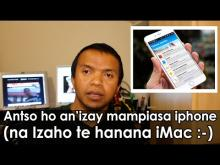 Embedded thumbnail for Ho an'izay manana iphone